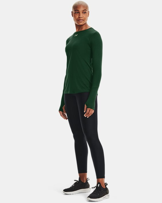 Women's UA Locker 2.0 Long Sleeve, Green, pdpMainDesktop image number 1