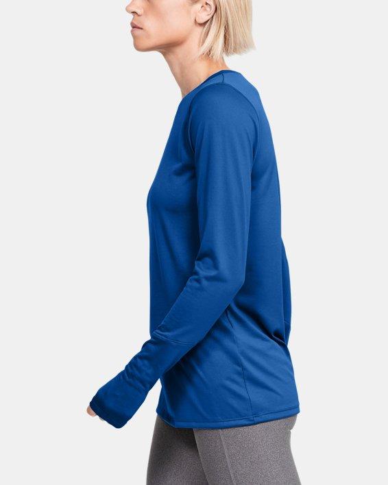Women's UA Locker 2.0 Long Sleeve, Blue, pdpMainDesktop image number 3