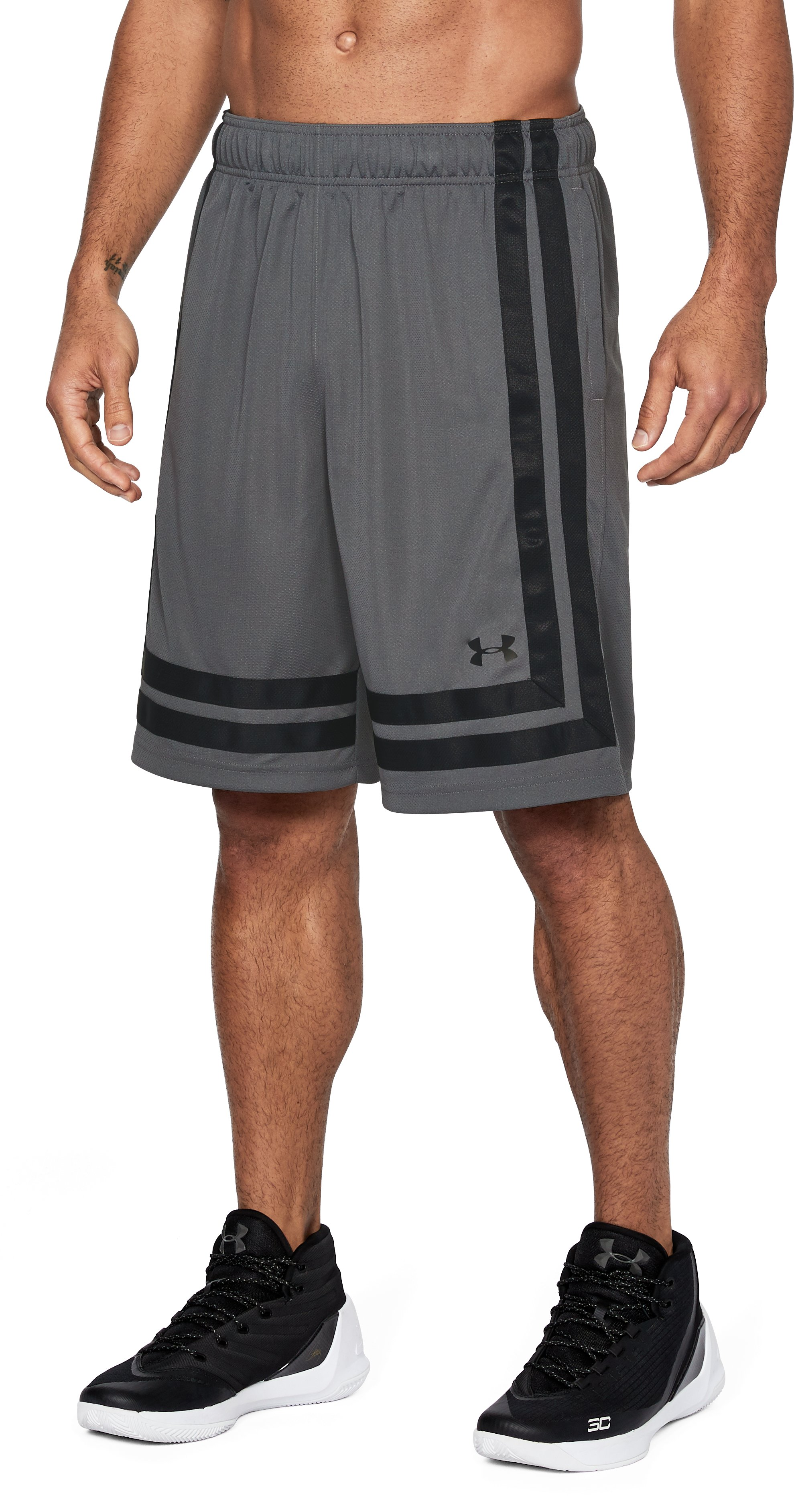 "Men's UA Baseline 10"" Shorts 18, Graphite,"