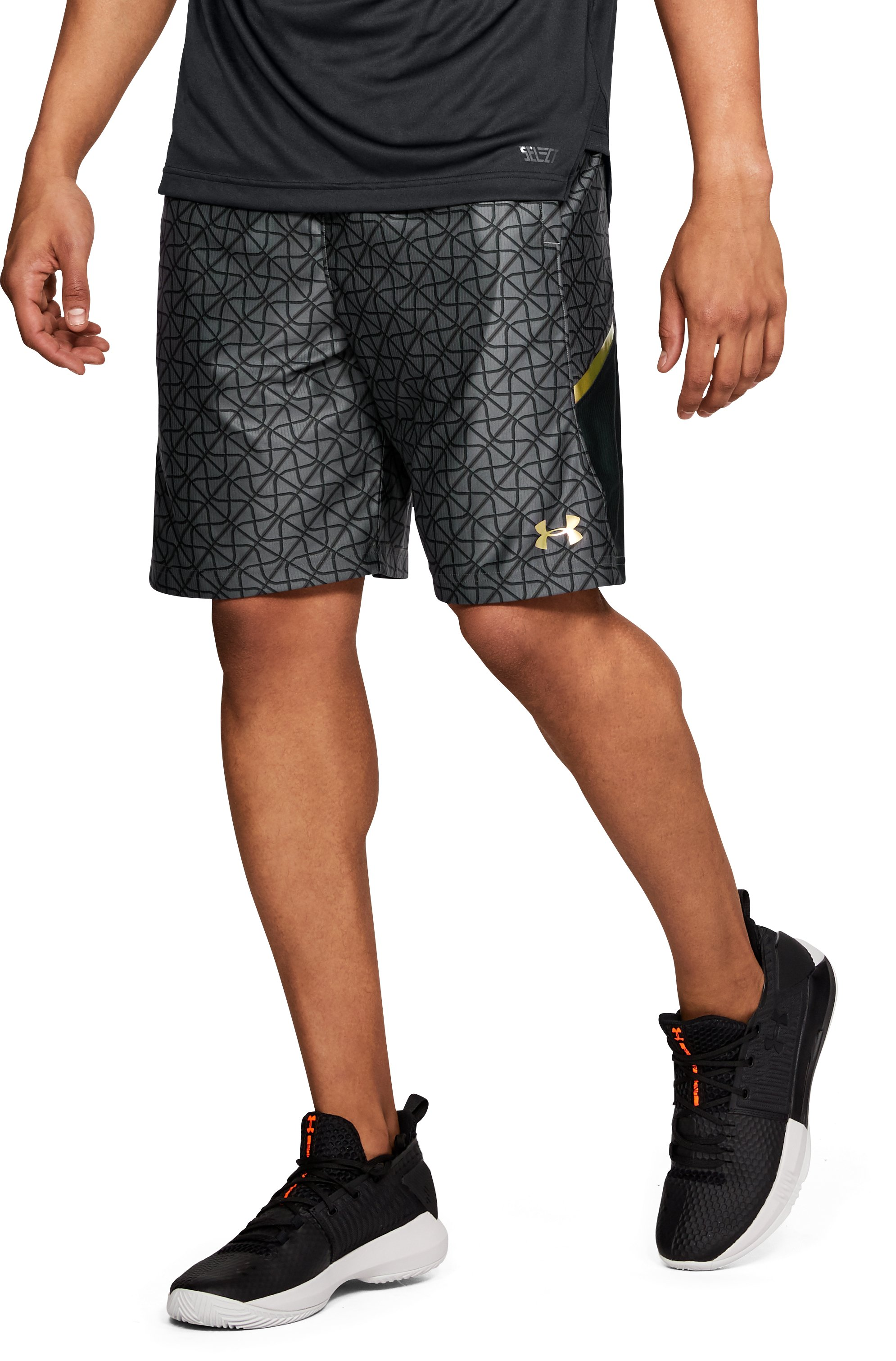 "Men's UA Select Printed 9"" Shorts, Black"
