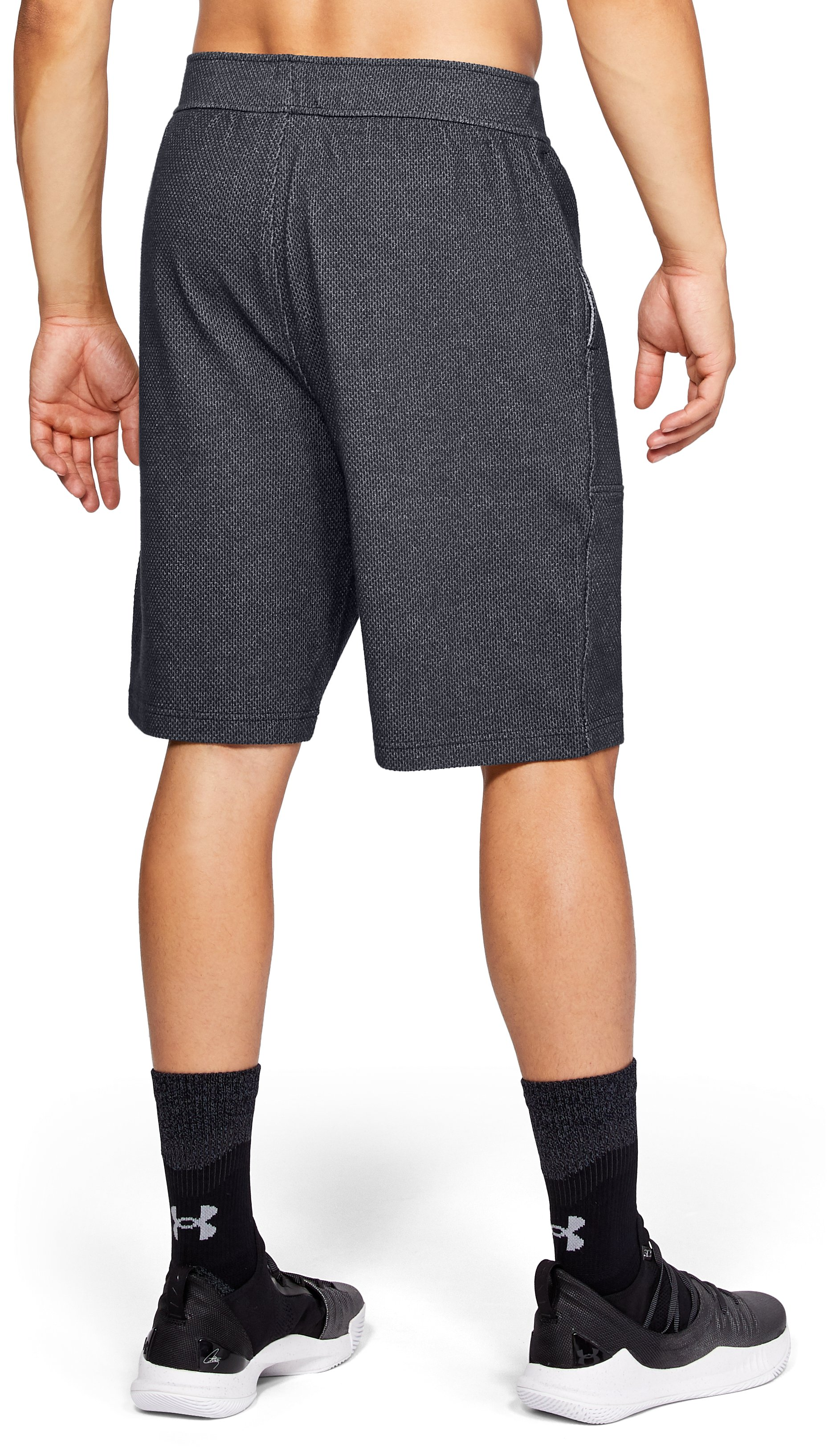 Men's UA Pursuit Fleece Shorts, Black , undefined