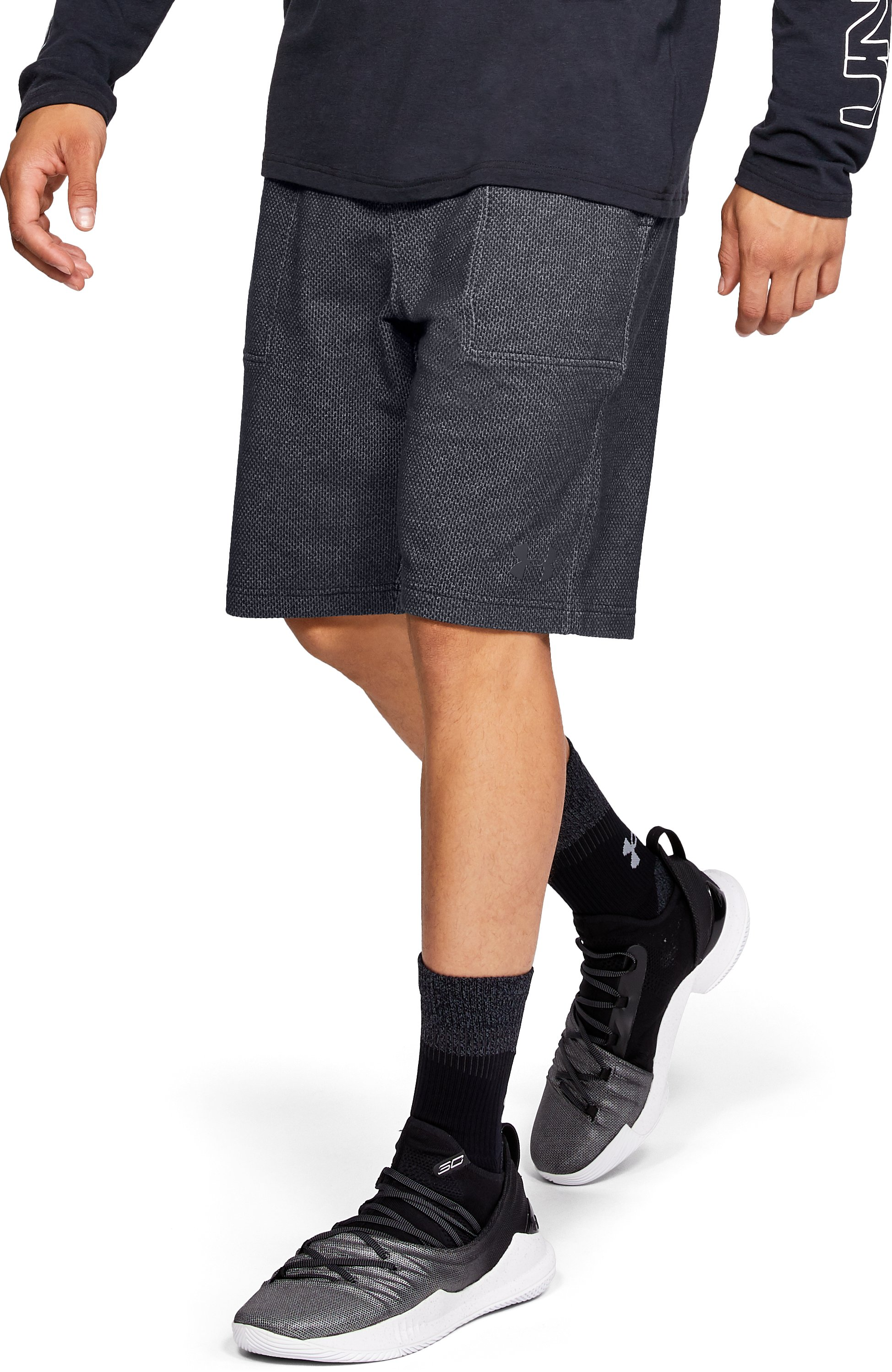 Men's UA Pursuit Fleece Shorts, Black