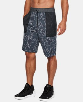 New Arrival Men's UA Pursuit Fleece Shorts  3 Colors $50