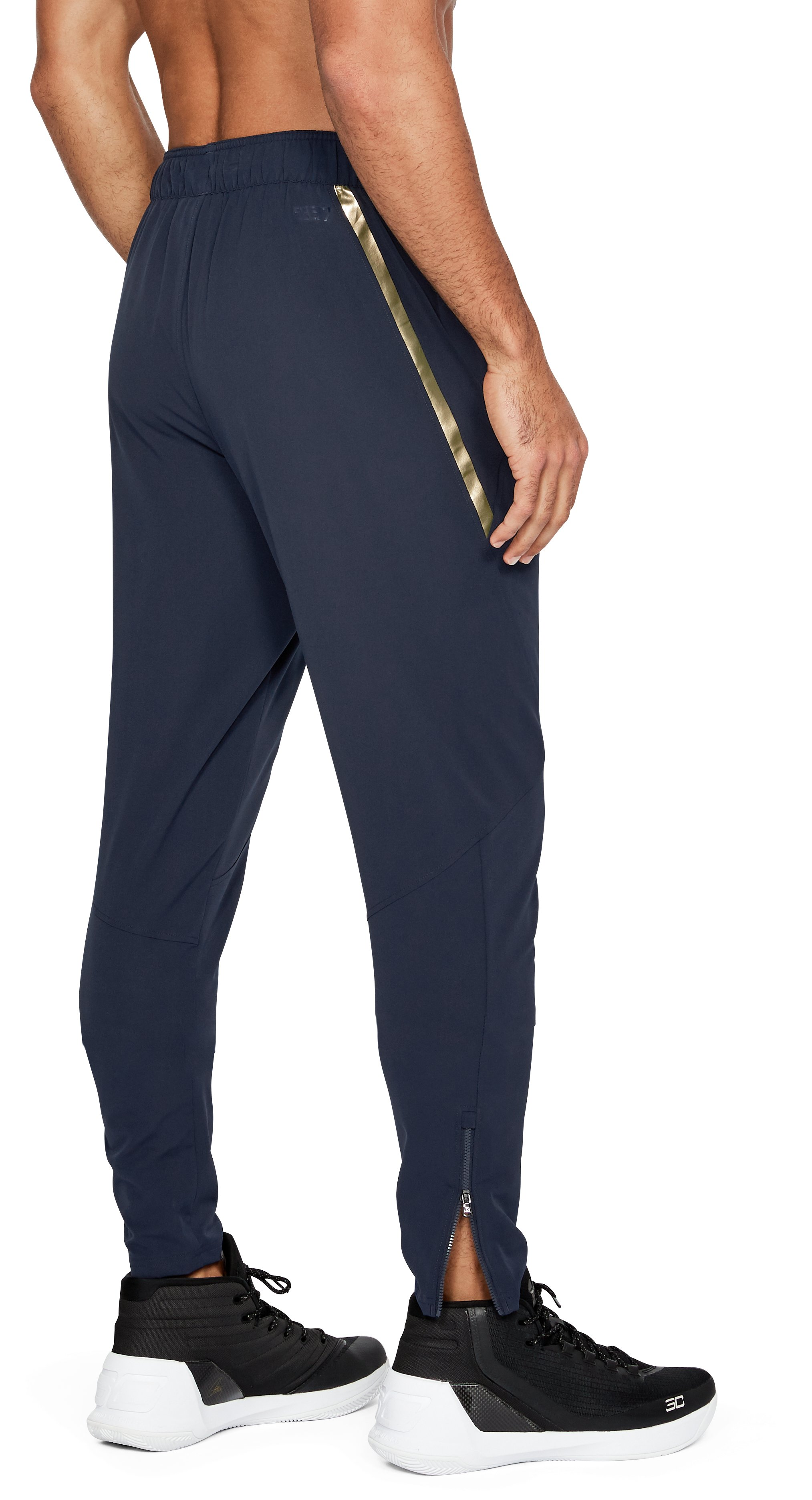 Men's UA Select Warm Up Pants, Midnight Navy,