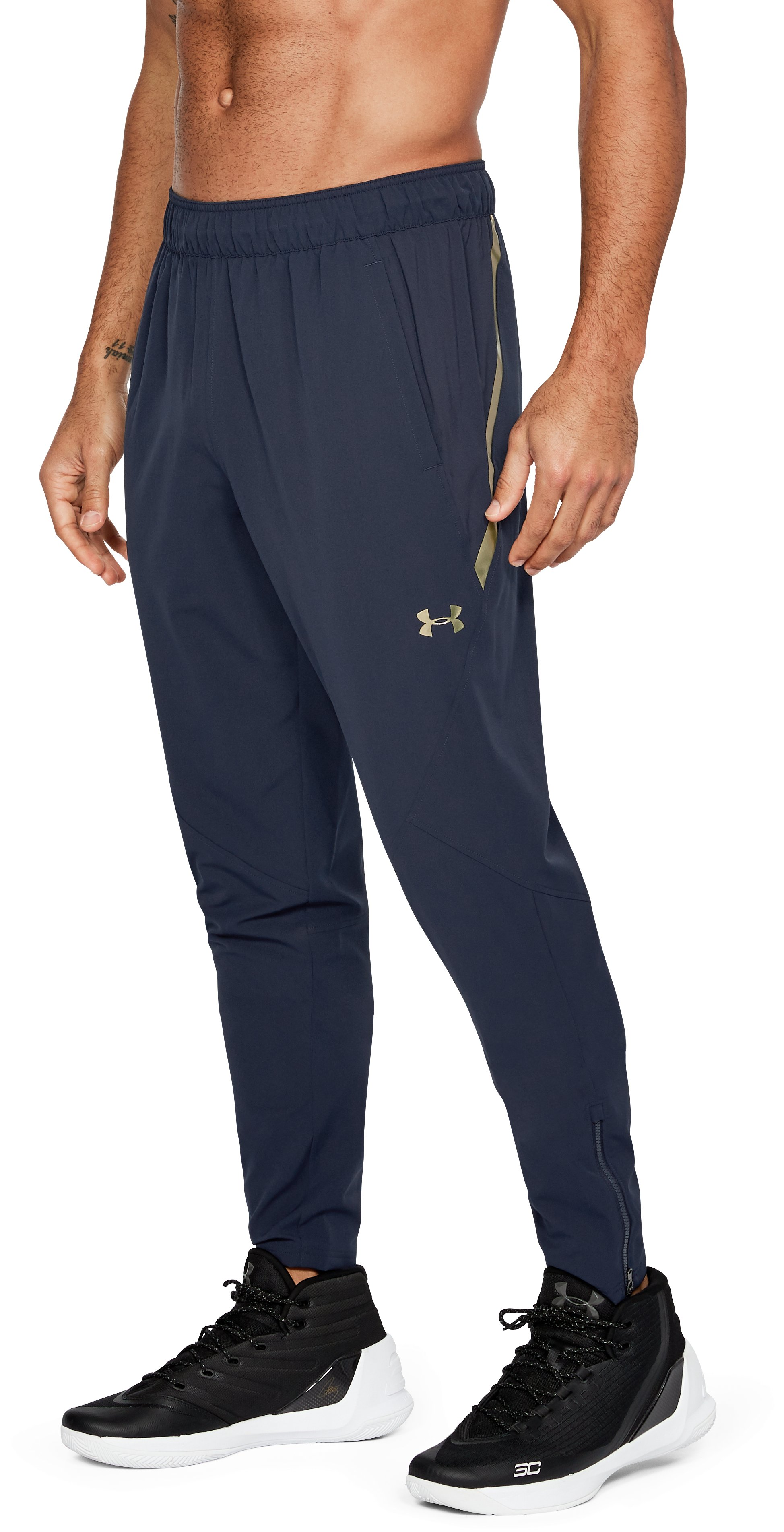 Men's UA Select Warm Up Pants, Midnight Navy