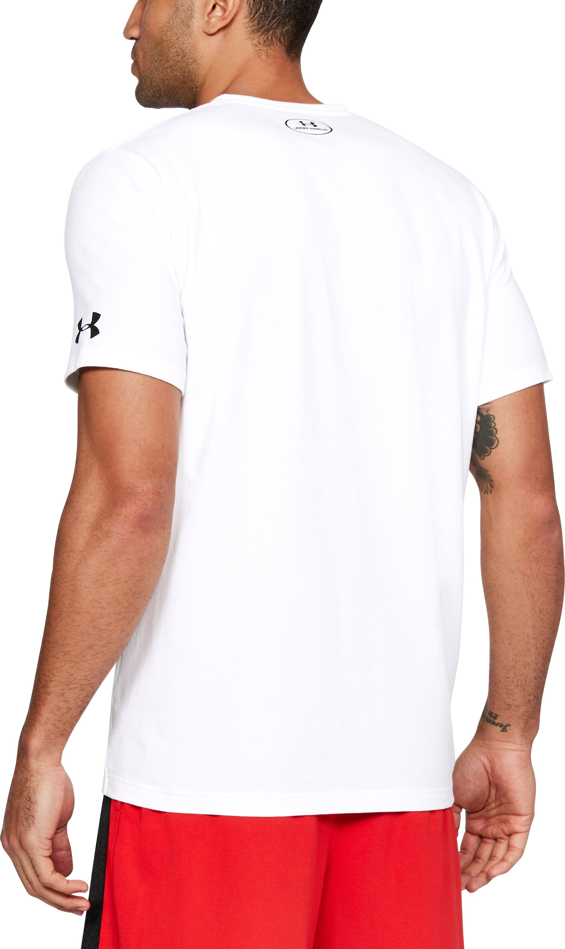 Men's SC30 3D Dribbler T-Shirt, White,