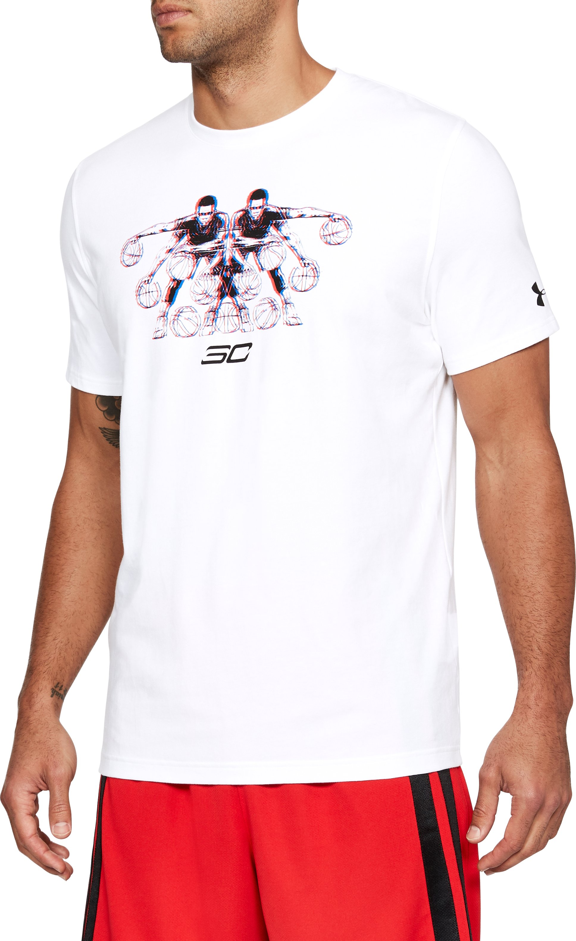 Men's SC30 3D Dribbler T-Shirt, White