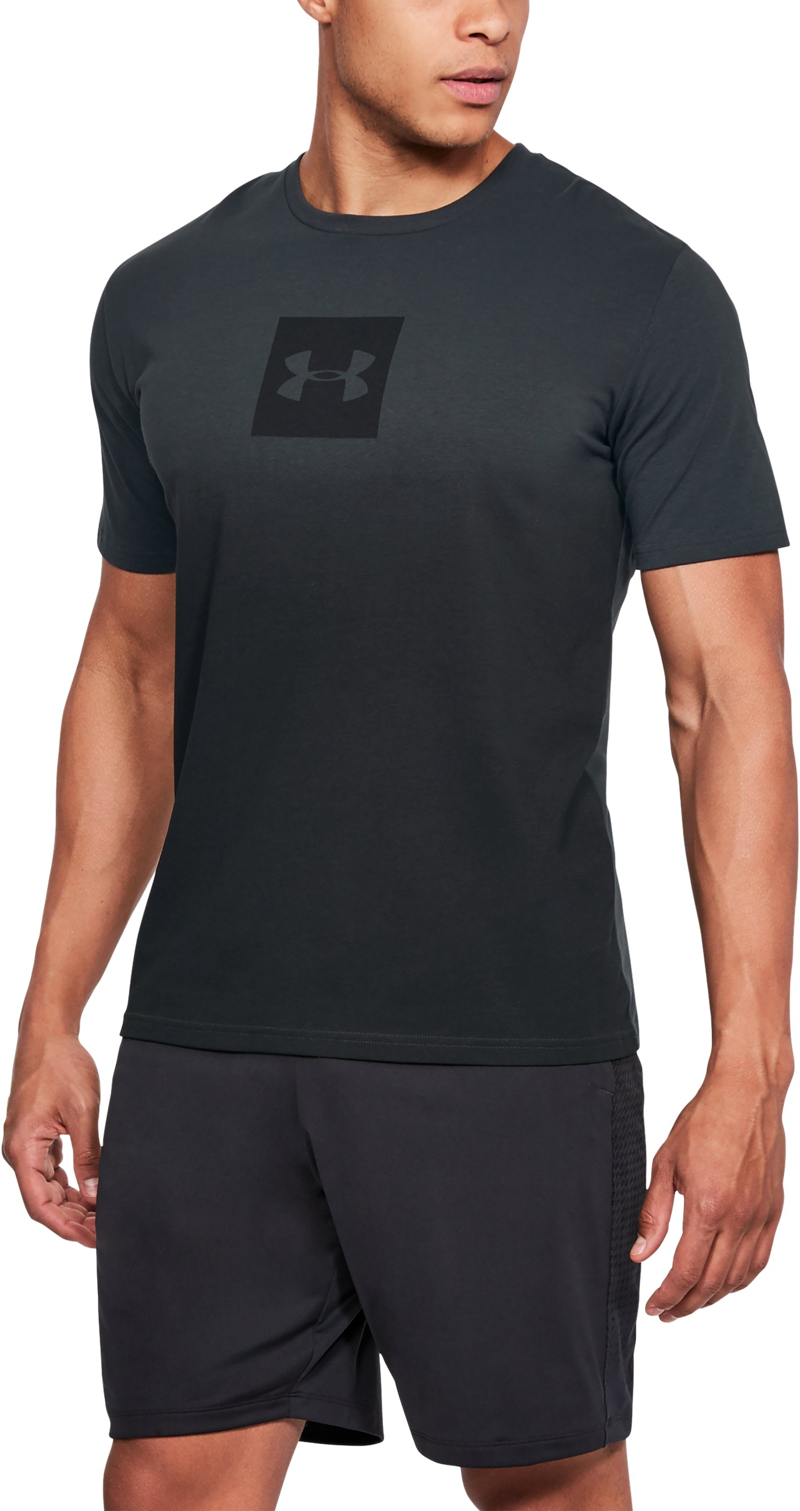 Men's UA Sportstyle Gradient Short Sleeve, ANTHRACITE