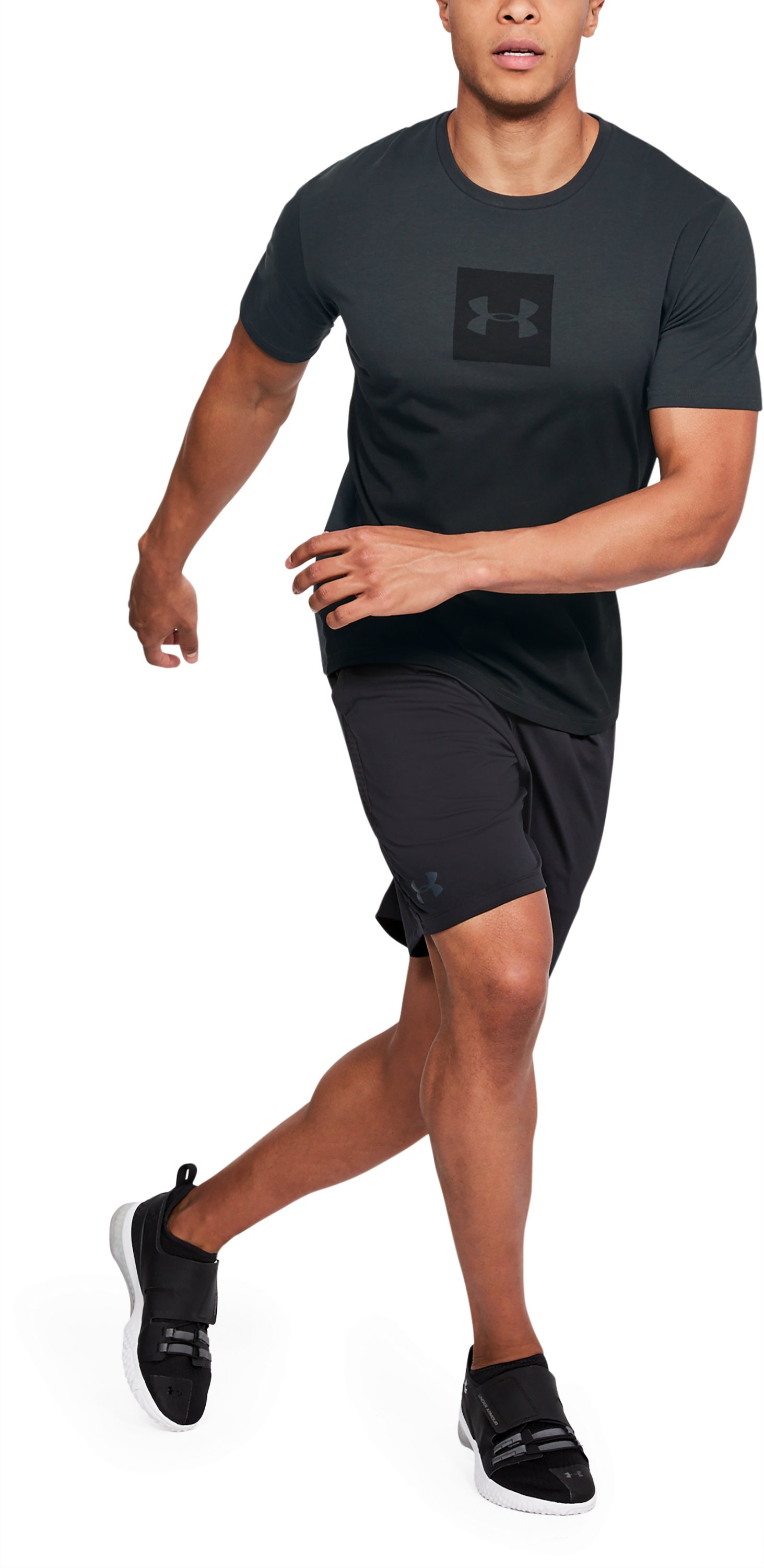 Men's UA Sportstyle Gradient Short Sleeve, ANTHRACITE,