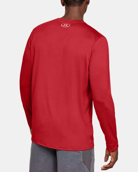 Men's UA Locker 2.0 Long Sleeve, Red, pdpMainDesktop image number 2