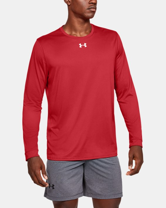 Men's UA Locker 2.0 Long Sleeve, Red, pdpMainDesktop image number 0