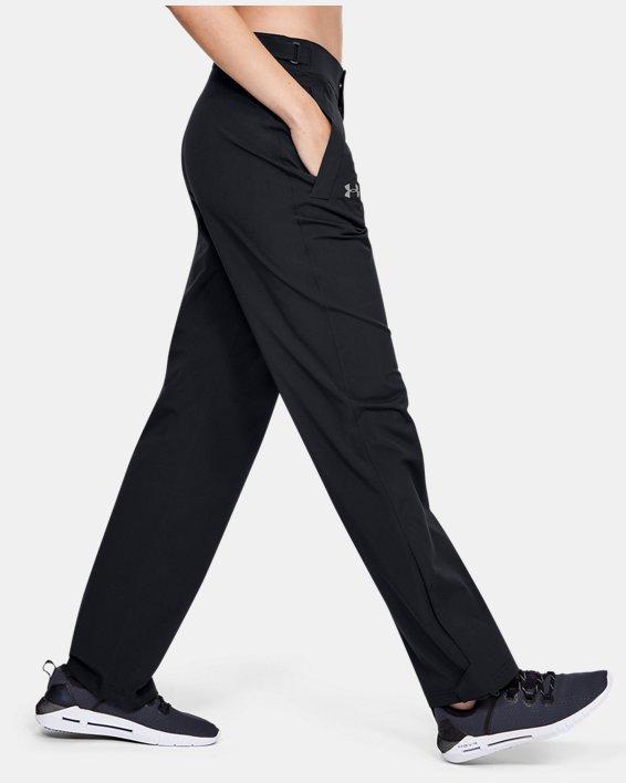 Women's UA Storm Rain Pants, Black, pdpMainDesktop image number 3