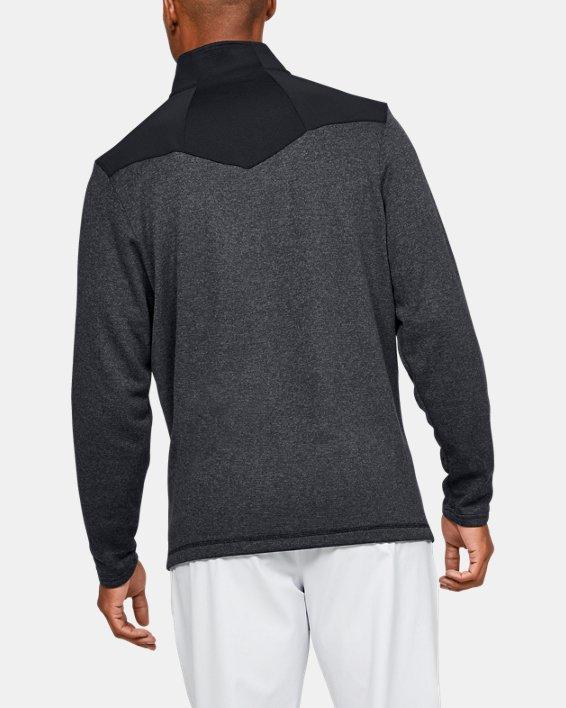 Men's UA Peak Performance Fleece ¼ Zip, Black, pdpMainDesktop image number 2