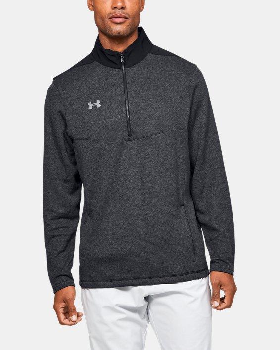 Men's UA Peak Performance Fleece ¼ Zip, Black, pdpMainDesktop image number 0