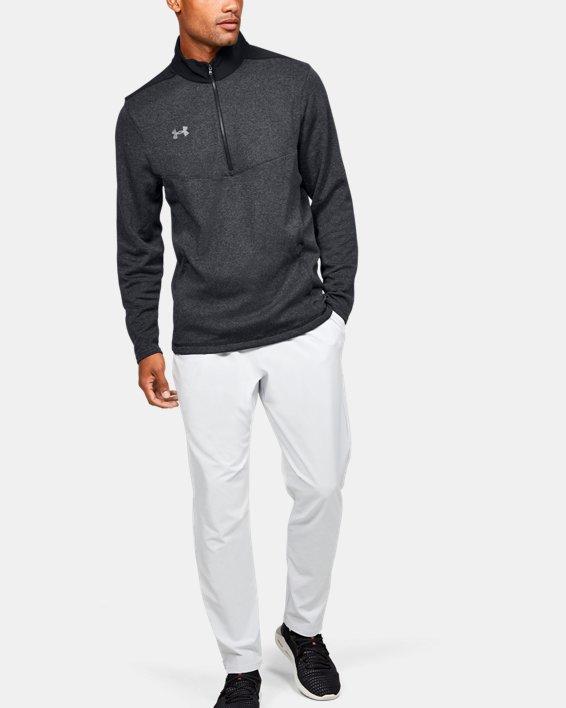 Men's UA Peak Performance Fleece ¼ Zip, Black, pdpMainDesktop image number 1