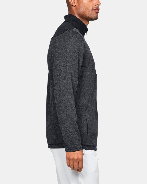 Men's UA Peak Performance Fleece ¼ Zip, Black, pdpMainDesktop image number 3