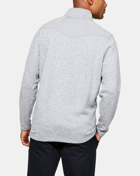 Men's UA Peak Performance Fleece ¼ Zip, Gray, pdpMainDesktop image number 2