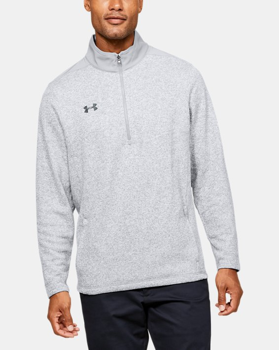 Men's UA Peak Performance Fleece ¼ Zip, Gray, pdpMainDesktop image number 0