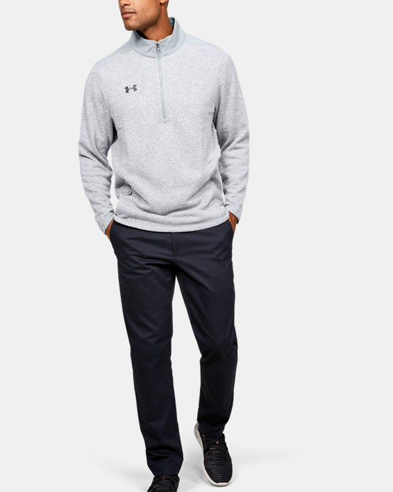 Men's UA Peak Performance Fleece ¼ Zip, Gray, pdpMainDesktop image number 1