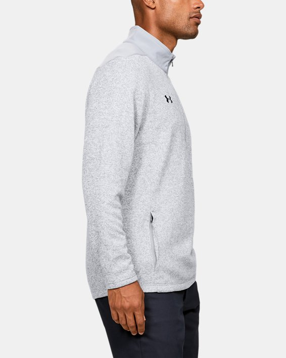Men's UA Peak Performance Fleece ¼ Zip, Gray, pdpMainDesktop image number 3