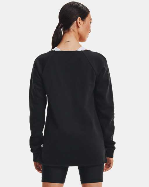 Women's UA Hustle Fleece Crew