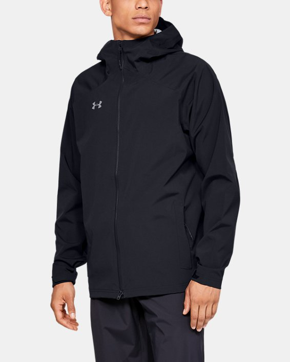 Men's UA Storm Rain Jacket, Black, pdpMainDesktop image number 0