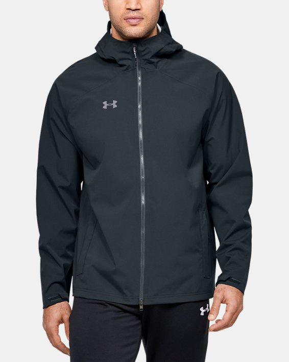 Men's UA Storm Rain Jacket, Gray, pdpMainDesktop image number 0