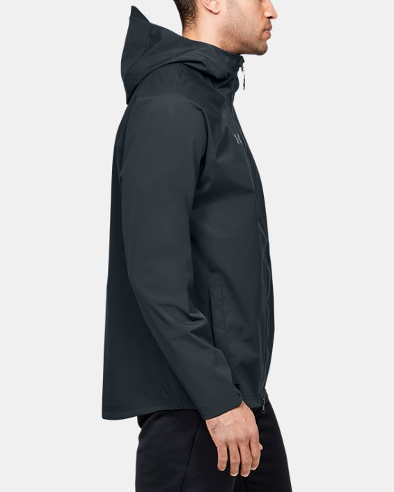 Men's UA Storm Rain Jacket, Gray, pdpMainDesktop image number 3