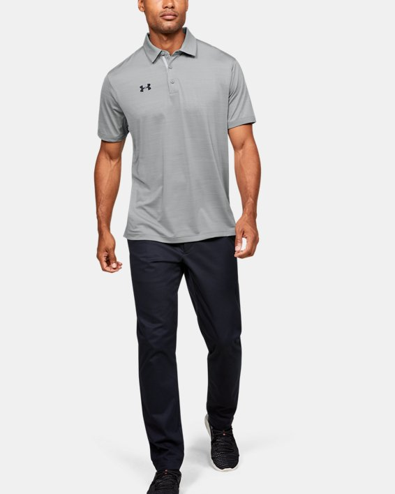 Men's UA Elevated Polo, Gray, pdpMainDesktop image number 1