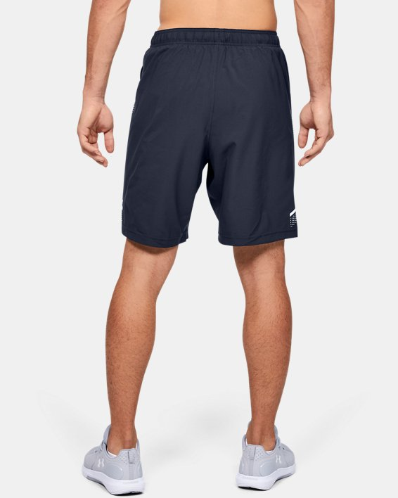 Men's UA Woven Training Shorts, Navy, pdpMainDesktop image number 3
