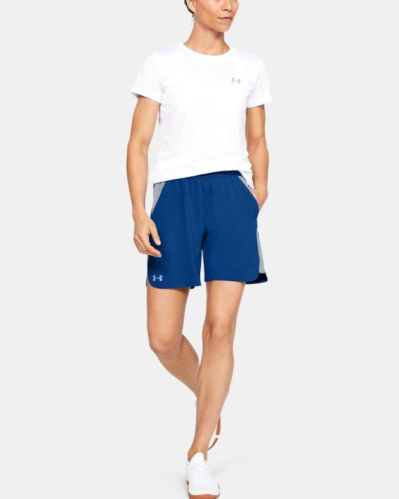 UA Women's UA Game Time Shorts, Blue, pdpMainDesktop image number 1