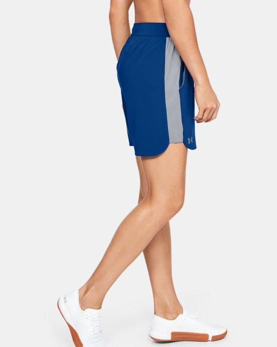 UA Women's UA Game Time Shorts, Blue, pdpMainDesktop image number 3