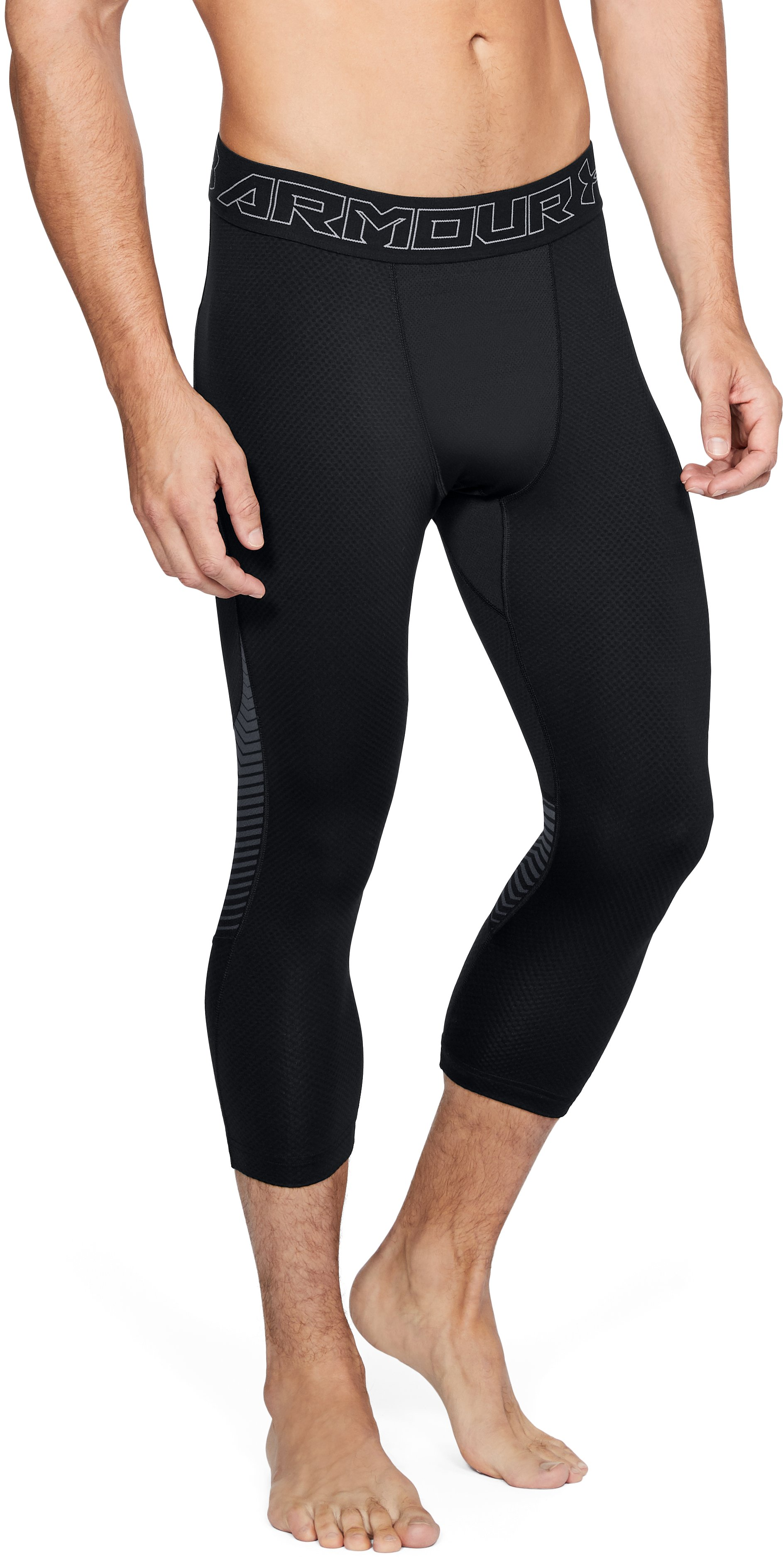 Men's ColdGear® Reactor ¾ Leggings, Black , undefined