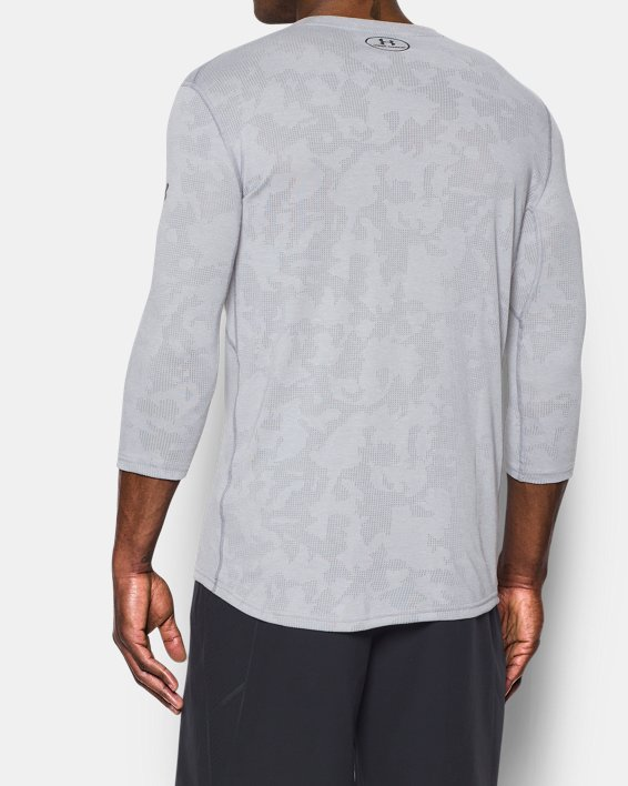 Men's UA Threadborne ¾ Utility T-Shirt, Gray, pdpMainDesktop image number 2