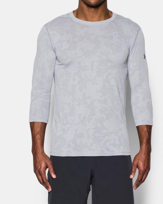 Men's UA Threadborne ¾ Utility T-Shirt, Gray, pdpMainDesktop image number 0