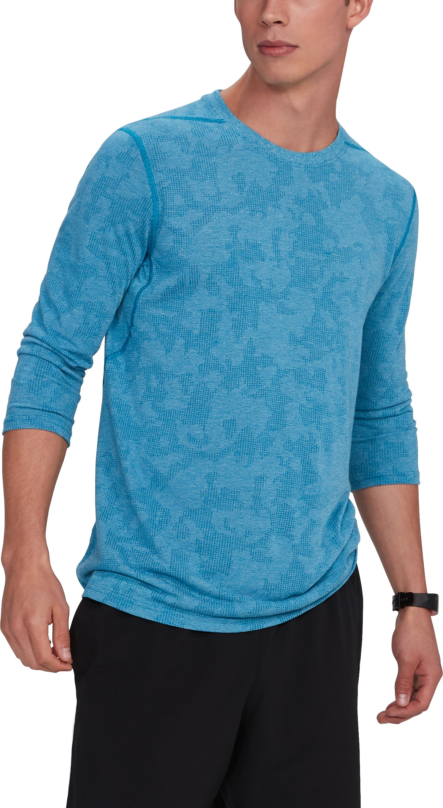 Men's UA Threadborne ¾ Utility T-Shirt, MAKO BLUE