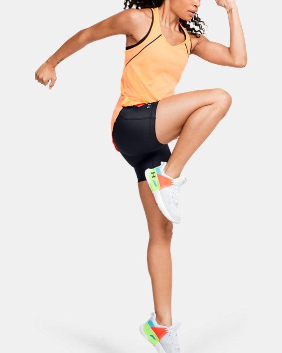 Women's HeatGear® Armour Mid Shorts, Black, pdpMainDesktop image number 1