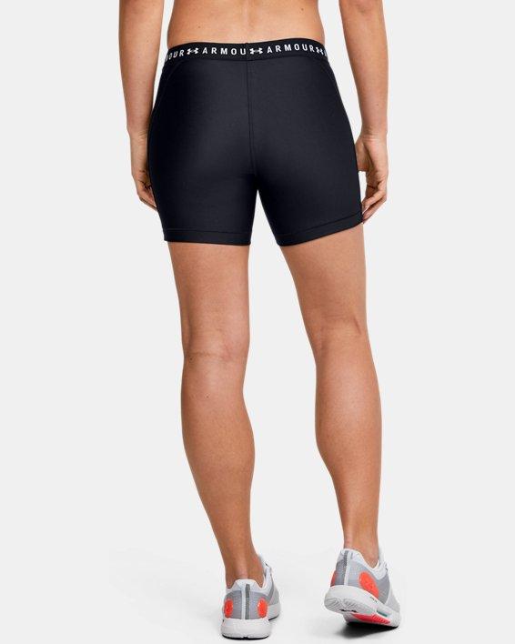 Women's HeatGear® Armour Mid Shorts, Black, pdpMainDesktop image number 2