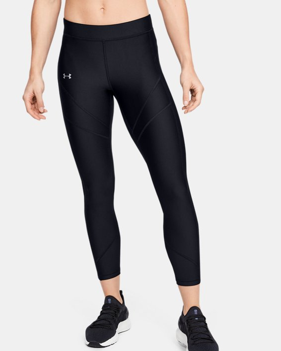Women's HeatGear® Armour Ankle Crop, Black, pdpMainDesktop image number 0