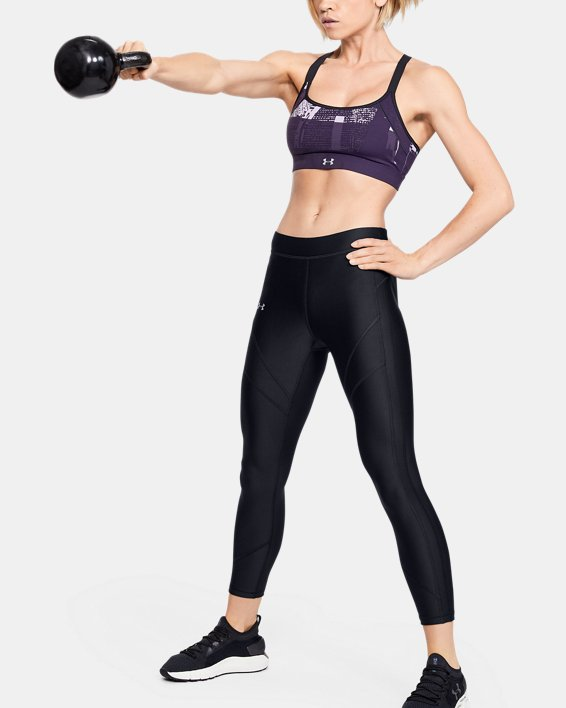 Women's HeatGear® Armour Ankle Crop, Black, pdpMainDesktop image number 1