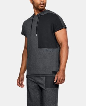 New Arrival Men's UA Pursuit Short Sleeve Hooded T-Shirt   $50