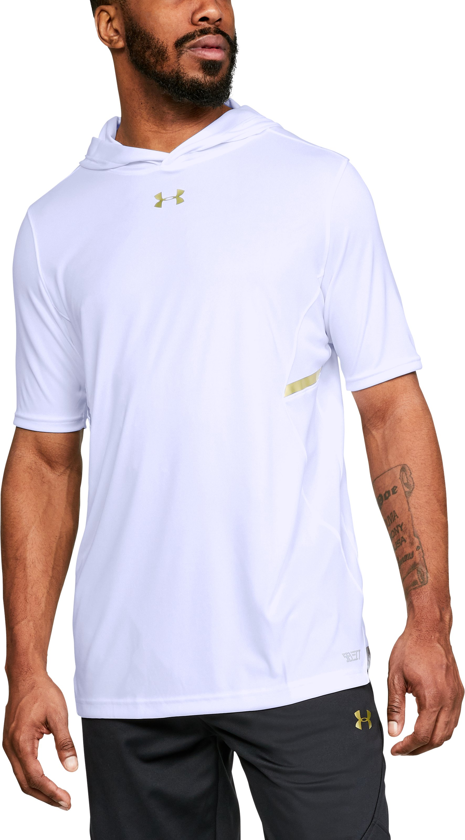 Men's UA Select ½ Sleeve Shooter, White
