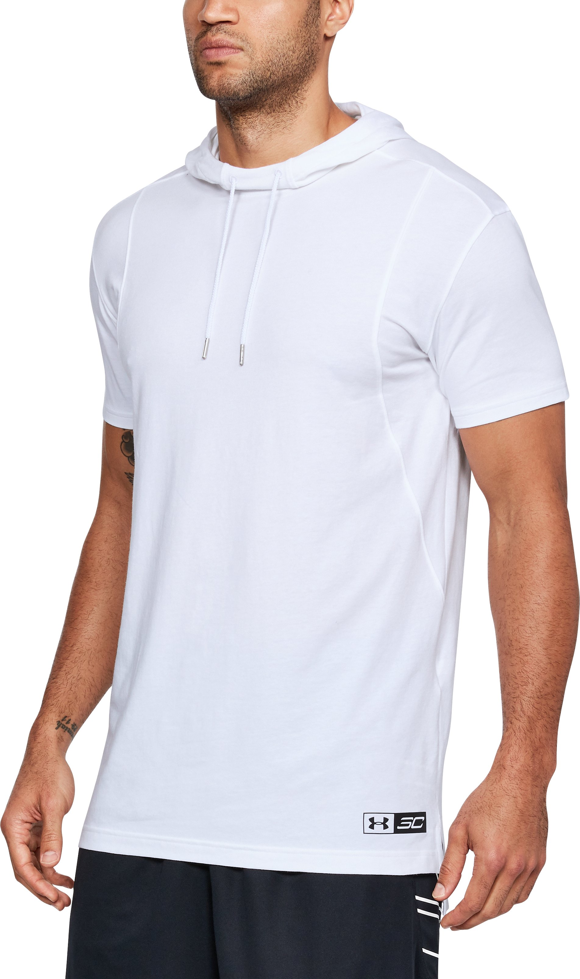 Men's SC30 Short Sleeve Hooded T-Shirt, White