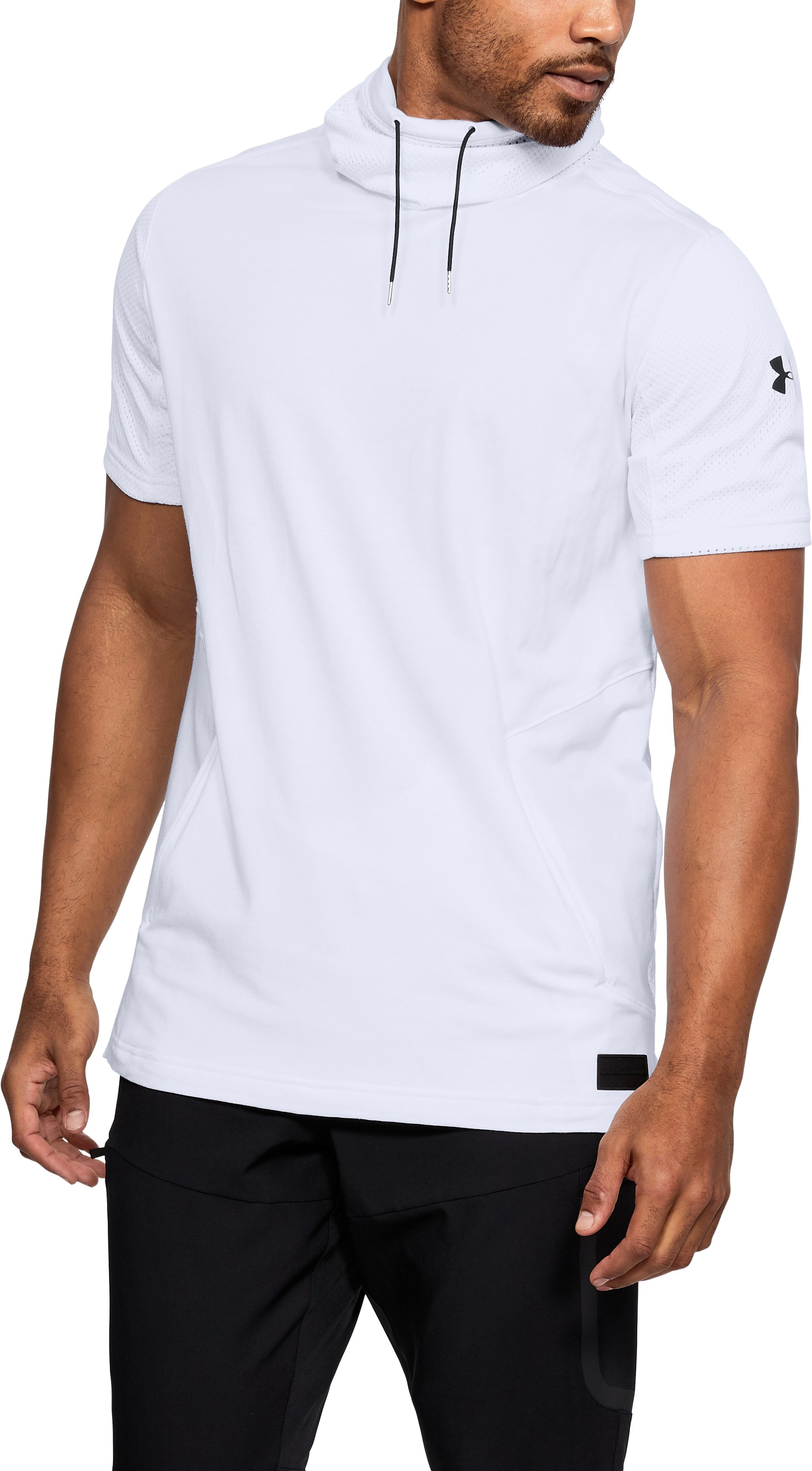 Men's UA Pursuit Funnel Neck Short Sleeve, White