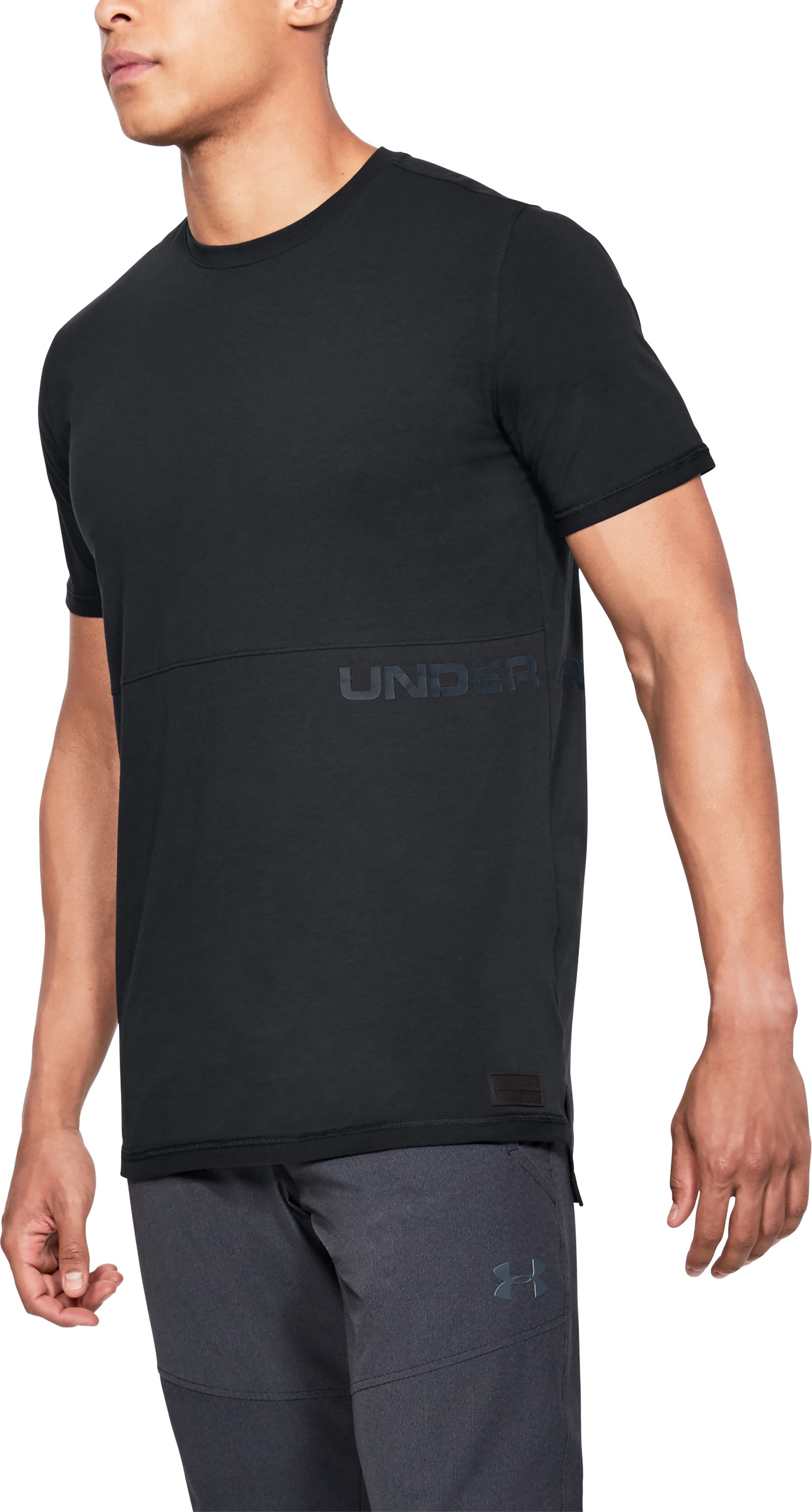 Men's UA Pursuit Printed T-Shirt, Black ,