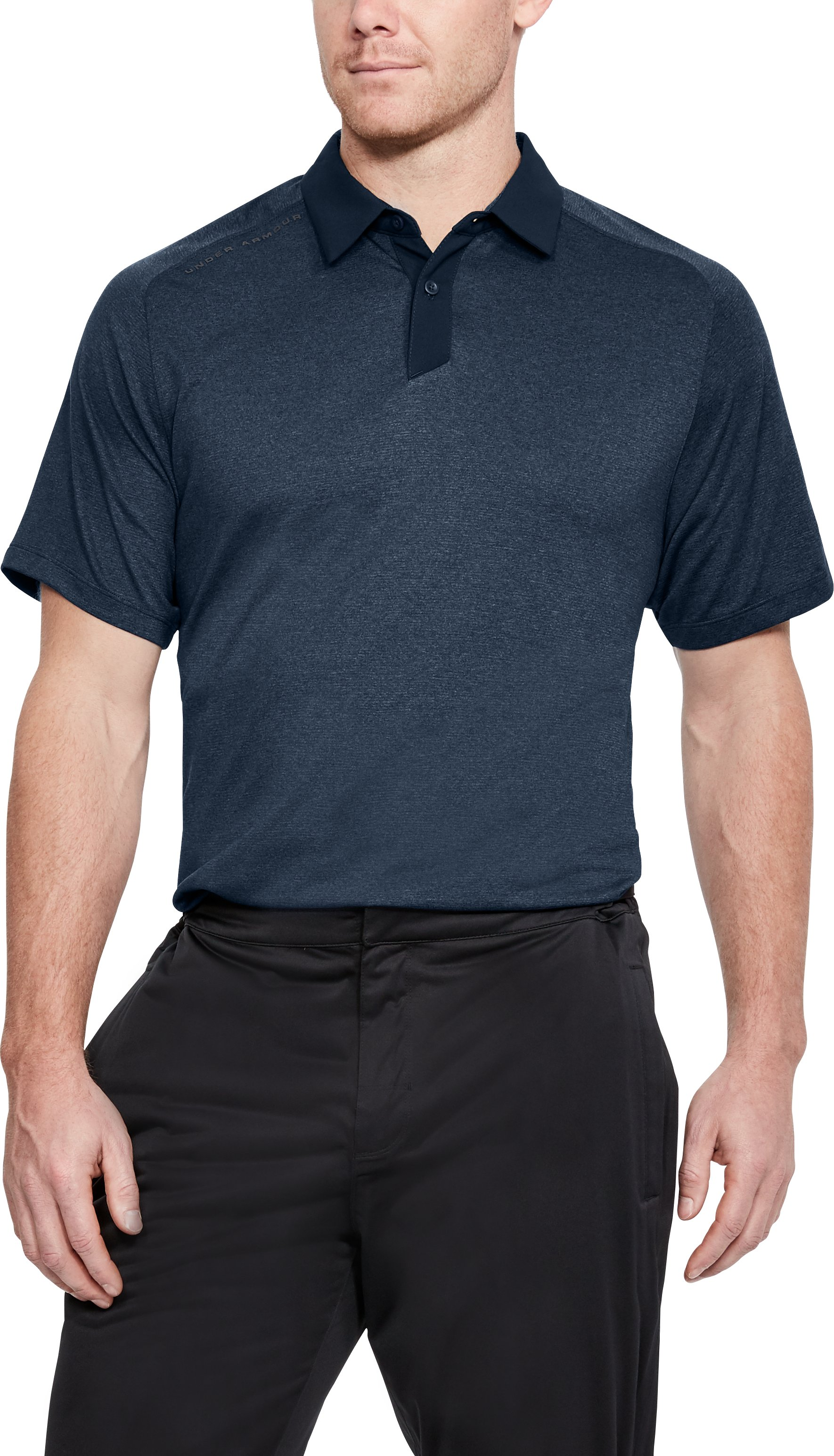 Men's UA Threadborne Polo, ACADEMY FULL HEATHER,