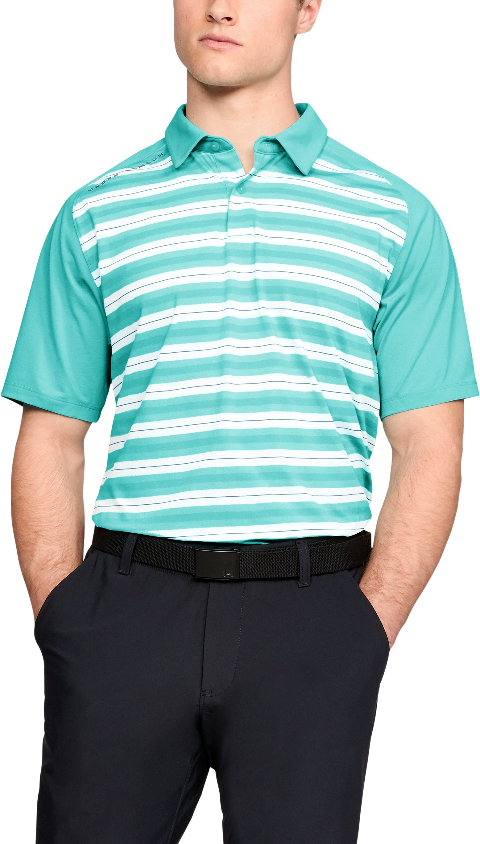 Men's UA Threadborne Boundless Polo, TROPICAL TIDE
