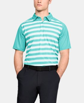 Men's UA Threadborne Boundless Polo FREE U.S. SHIPPING 8  Colors Available $75