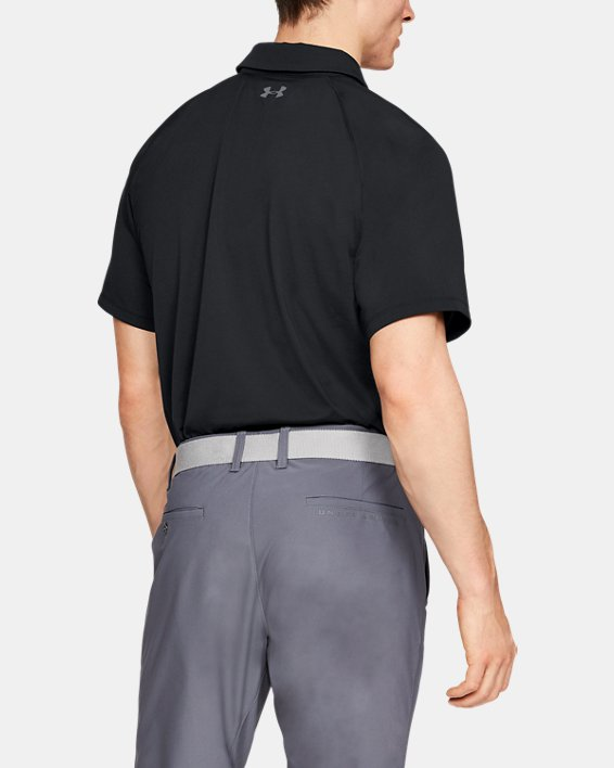 Men's UA Threadborne Infinite Polo, Black, pdpMainDesktop image number 2