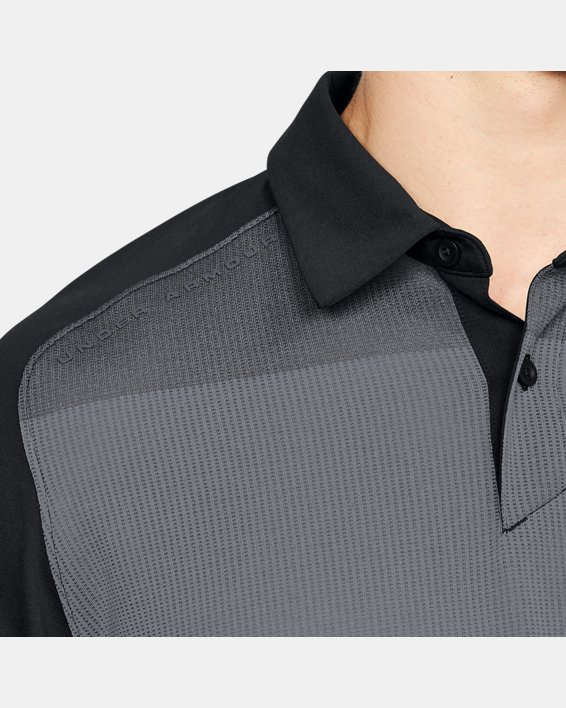 Men's UA Threadborne Infinite Polo, Black, pdpMainDesktop image number 6